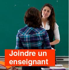 Joindre un enseignant